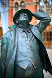 Sir John Betjeman at St Pancras. This is an image of the statue of St John Betjeman by Martin Jennings. This is a bronze statue situated at St Pnacras Station on royalty free stock image