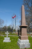 Sir John A Macdonald Grave in Cataraqui-Kirchhof - Kingston - Kanada stockbilder