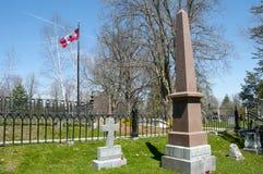 Sir John A Macdonald Grave i den Cataraqui kyrkogården - Kingston - Kanada arkivfoton