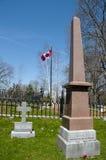 Sir John A Macdonald Grave i den Cataraqui kyrkogården - Kingston - Kanada arkivbilder