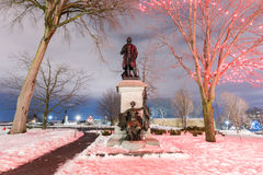 Sir John A Macdonald Monument. Monument to Canada`s first Prime Minister and one of the Fathers of Confederation, Sir John A Macdonald Stock Photos