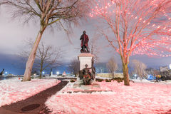 Sir John A Macdonald Monument. Monument to Canada`s first Prime Minister and one of the Fathers of Confederation, Sir John A Macdonald Royalty Free Stock Images