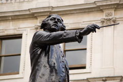 Sir Joshua Reynolds statue Royalty Free Stock Photography