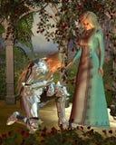 Sir Launcelot e regina Guinevere Fotografia Stock