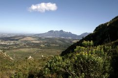 Sir Lowrys Pass South Africa. Sir Lowrys Pass Zuid Afrika stock image