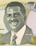 Sir Lynden Oscar Pindling. On 1 Dollar 2001 Banknote from Bahamas. First black premier of the colony of Bahamas during 1967-1969 and prime minister during 1969 Stock Photos