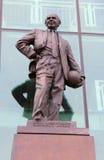 Sir Matt Busby Statue bei altem Trafford Stockbild