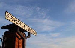 Sir Matt Busby Way Road Sign Royalty Free Stock Photo