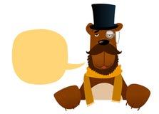 Sir niedźwiedzia charakter Zdjęcie Stock