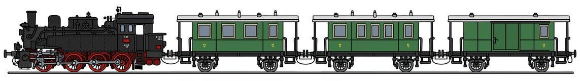Sir Nigel Gresley parowa lokomotywa royalty ilustracja