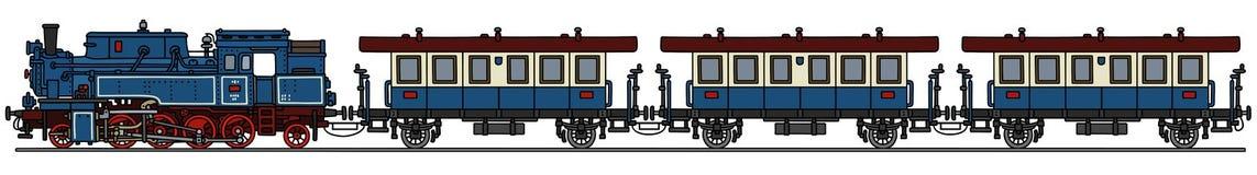 Sir Nigel Gresley-stoomlocomotief vector illustratie