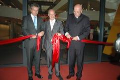 Sir Norman Foster, Dieter Lenzen, Klaus Wowereit Images stock