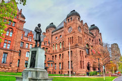 Sir Oliver Mowat statue at the Ontario Legislative Building in Toronto, Canada Royalty Free Stock Images