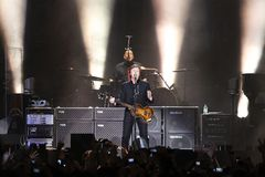 Sir Paul McCartney performs onstage at Olimpiyskiy Royalty Free Stock Photography
