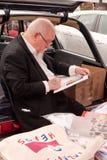 Sir Peter Blake del artista en el cargador del programa inicial 2010 del coche del arte Fa Foto de archivo