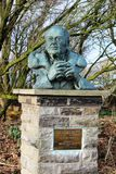 Sir Peter Scott, famous Painter and Naturalist. Bust of Sir Peter Scott, Painter and Naturalist and founder of the Wildfowl Trust at Martin Mere, the WWT reserve Royalty Free Stock Images