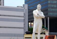 Sir Raffles-standbeeld Stock Foto's