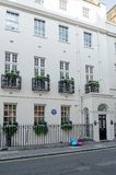 Sir Richard Westmacott Historic Home Mayfair arkivfoto