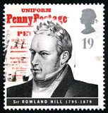 Sir Rowland Hill UK Postage Stamp Stock Image
