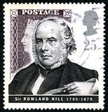 Sir Rowland Hill UK Postage Stamp Stock Photos