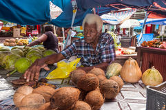 Sir Selwyn Selwyn Clarke Market em Victoria, Mahe, Seychelles Fotos de Stock Royalty Free