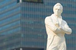 Sir Stamford Raffles statuę, Singapur fotografia stock