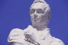 Sir Thomas Stamford Raffles statue. By the River in Singapore Stock Images