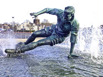 Sir tom finney statue Royalty Free Stock Photography