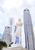 Sir Tomas Stamford Raffles monument. Statue of Sir Tomas Stamford Raffles. He is often described as the Father of Singapore Royalty Free Stock Image
