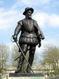 Sir Walter Raleigh Statue. Sir Walter Raleigh 1552-1618 was a courtier to Elizabeth 11 who became a famous poet, buccaneer explorer and was reputed to have Royalty Free Stock Photo