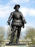 Sir Walter Raleigh Statue Fotografia Stock Libera da Diritti