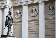 Sir Walter Raleigh Statue in Greenwich Stock Image