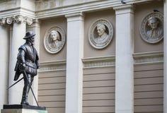 Sir Walter Raleigh Statue i Greenwich Fotografering för Bildbyråer