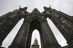 Sir Walter Scott Memorial. Located in Edinburgh Scotland Royalty Free Stock Images