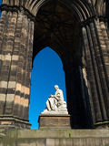 Sir Walter Scott Monument Royaltyfri Bild