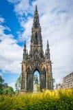 Sir Walter Scott Monument i prinsgataträdgårdar i Edinburg, Skottland Arkivfoton