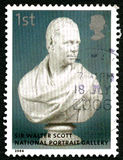 Sir Walter Scott UK Postage Stamp Royalty Free Stock Photography