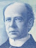 Sir Wilfried Laurier portrait. From Canadian money Royalty Free Stock Photo
