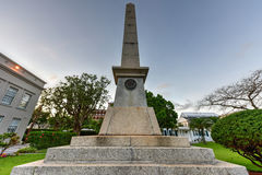 Sir William Reid Obelisk Royaltyfria Foton