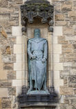 Sir William Wallace Statue på Edinburgslotten Arkivfoto
