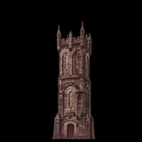 Sir William Wallace Tower, South Ayrshire, Isplated on a black b Stock Photo
