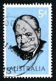 Sir Winston Churchill Australian Postage Stamp fotos de stock