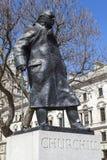 Sir Winston Churchill Statue à Londres Image libre de droits