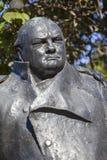 Sir Winston Churchill Statue à Londres Images libres de droits