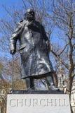 Sir Winston Churchill Statue en Londres Imagen de archivo