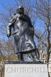 Sir Winston Churchill Statue in Londen Stock Afbeelding