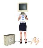 Sira de mãe à decisão para trabalhar ou ocupar da ilustração do bebê Imagens de Stock