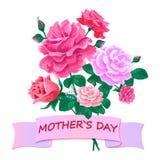 Sira de mãe ao dia de s com um ramalhete das rosas 2-01 Fotos de Stock