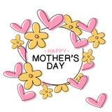 Sira de mãe ao dia do ` s - mensagem feliz do dia do ` s da mãe Imagens de Stock