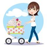 Sira de mãe ao passeio Foto de Stock Royalty Free